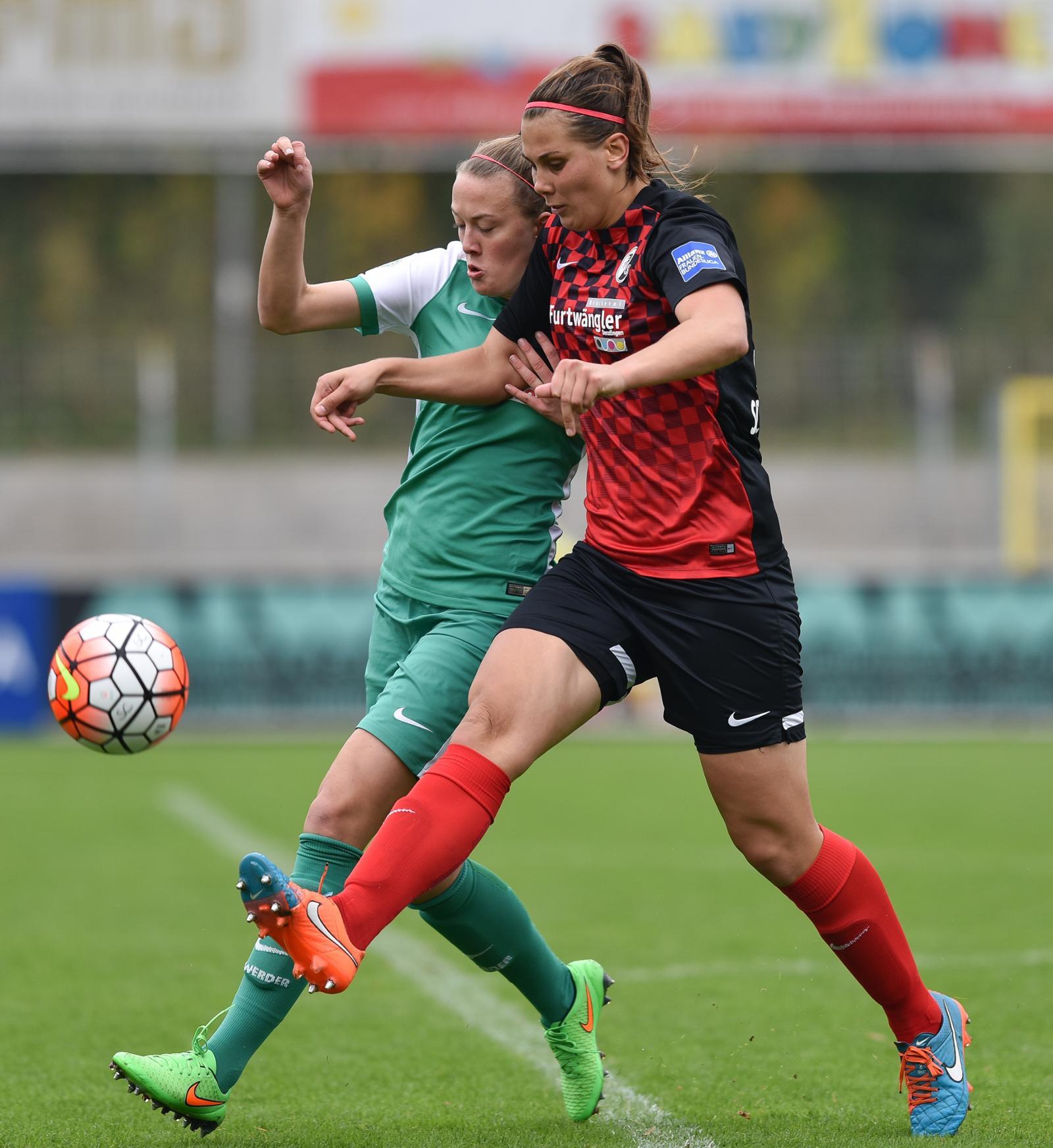 SC Freiburg - Werder Bremen - 1. Frauen-Bundesliga: SC Freiburg - SV Werder Bremen 2:2 (1:1