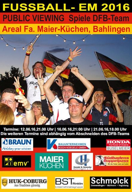 Fußballeuropameisterschaft 2016: Public Viewing in Bahlingen bei Fa ...