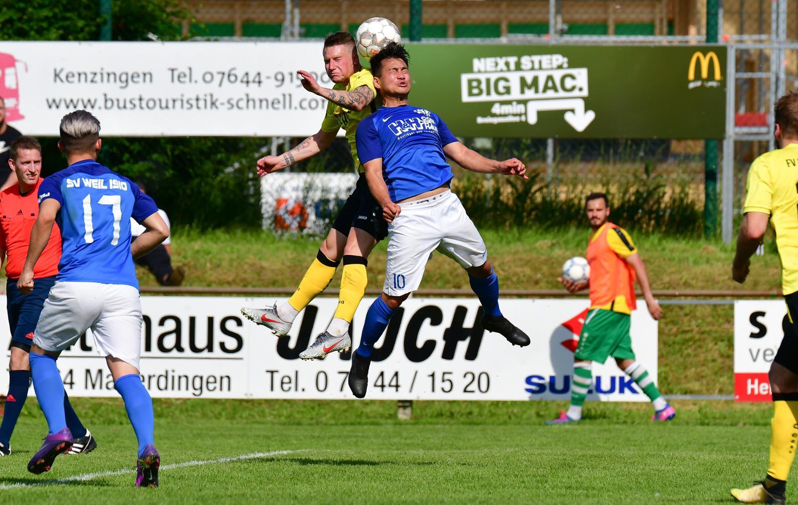 Mit vollem Einsatz gewinnt Nam Do Le mit dem SVW in Herbolzheim Bild: Claus G. Stoll